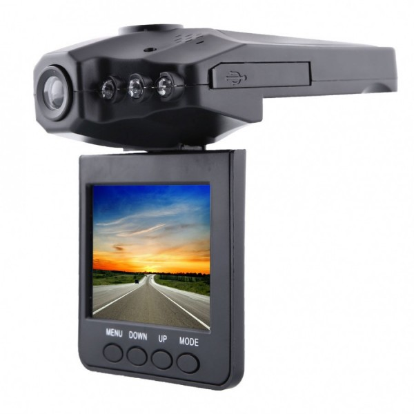cautireduceri.ro-Camera Video Auto/Masina cu Inregistrare HD, Infrarosu, DVR si Display 2,5 Inch TFT C26